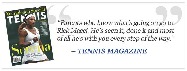 Tennis Magazine Rick Macci Academy
